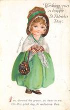 xrt601055 - St Patrick's Day Post Card Old Vintage Antique