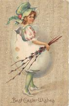xrt602015 - Easter Post Card Old Vintage Antique