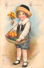 xrt602037 - Easter Post Card Old Vintage Antique