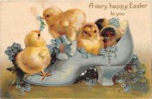 xrt602044 - Easter Post Card Old Vintage Antique