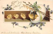 xrt602050 - Easter Post Card Old Vintage Antique
