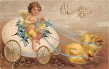 xrt602053 - Easter Post Card Old Vintage Antique