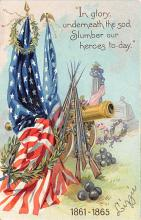 xrt603009 - Memorial Day Decoration Day Post Card Old Vintage Antique