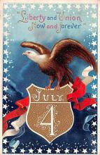 xrt604030 - Artist Signed Ellen Clapsaddle 4th of July Post Card
