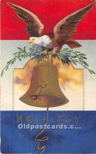 xrt604035 - Artist Signed Ellen Clapsaddle 4th of July Post Card