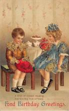 xrt605001 - Happy Birthday Post Card Old Vintage Antique
