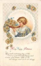 xrt605002 - Happy Birthday Post Card Old Vintage Antique