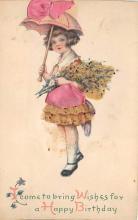 xrt605003 - Happy Birthday Post Card Old Vintage Antique