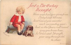xrt605004 - Happy Birthday Post Card Old Vintage Antique