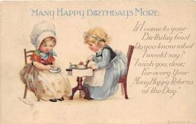 xrt605006 - Happy Birthday Post Card Old Vintage Antique