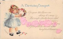 xrt605010 - Happy Birthday Post Card Old Vintage Antique