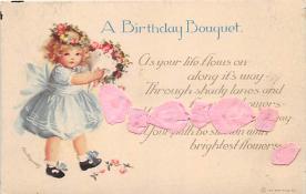 xrt605010 - Happy Birthday Post Card Old Vintage Antique