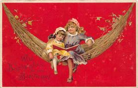 xrt605011 - Happy Birthday Post Card Old Vintage Antique