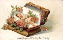 xrt605014 - Happy Birthday Post Card Old Vintage Antique