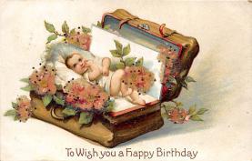 xrt605014 - Happy Birthday Post Card Old Vintage Antique