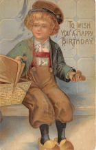 xrt605016 - Happy Birthday Post Card Old Vintage Antique