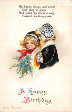 xrt605019 - Happy Birthday Post Card Old Vintage Antique