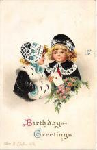 xrt605021 - Happy Birthday Post Card Old Vintage Antique