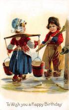 xrt605022 - Happy Birthday Post Card Old Vintage Antique