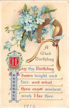xrt605024 - Happy Birthday Post Card Old Vintage Antique