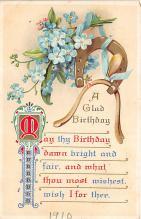 xrt605024 - Happy Birthday Post Card Old Vintage Antique