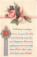 xrt605026 - Happy Birthday Post Card Old Vintage Antique