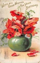 xrt605027 - Happy Birthday Post Card Old Vintage Antique