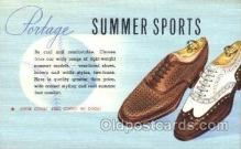 xsa001004 - Portage Shoe Advertising Postcard Postcards