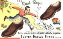 Buster Brown Shoes Shoe Advertising Postcard Post card
