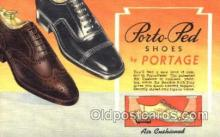 xsa001028 - Portage Shoe Advertising Postcard Postcards