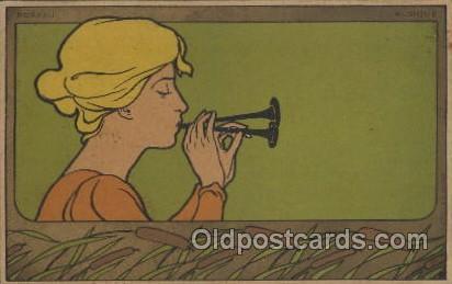 Artist Henri Meunier, Postcard Post Card