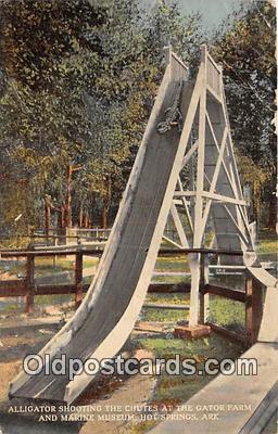 yan000001 - Hot Springs, Ark, USA Gator Farm & Marine Museum Postcard Post Card