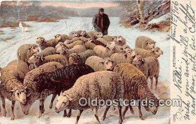 yan050035 - Flock Returning Postcard Post Card