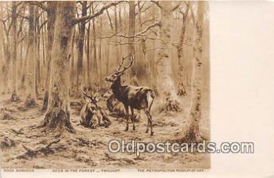 yan060038 - Metropolitan Museum of Art Deer in the Forest Postcard Post Card