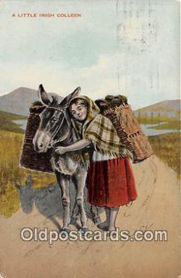 yan070014 - Little Irish Colleen Postcard Post Card