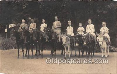 yan070034 - Real Photo Horseback & Muleback Riding Postcard Post Card