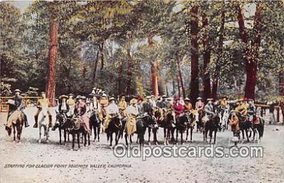 yan070039 - Glacier Point Yosemite Valley, CA, USA  Postcard Post Card