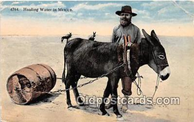 yan070043 - Mexico Hauling Water Postcard Post Card