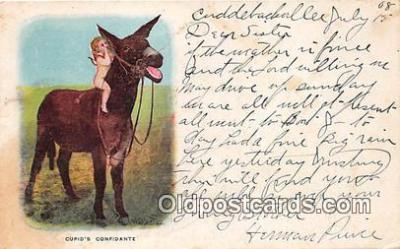 yan070067 - Cupids Confidante Postcard Post Card
