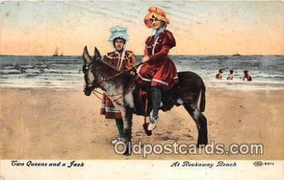 yan070074 - Rockaway Beach Two Queens & A Jack Postcard Post Card