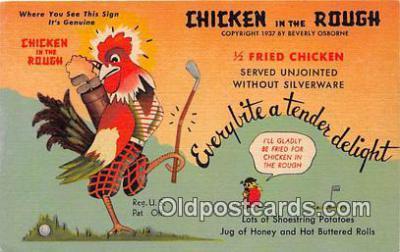 yan160005 - Virginia, USA Chicken in Rough Postcard Post Card