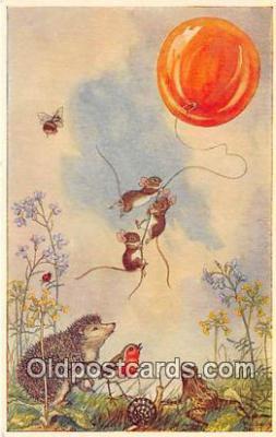 yan180001 - By Molly Brett Balloon Goes Up Postcard Post Card