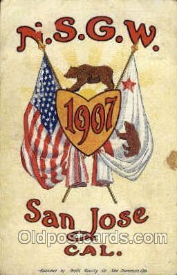 1907 Year Date Postcard Post Card