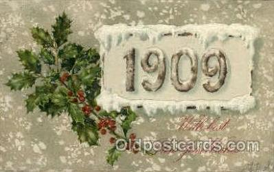 yea001003 - 1909 Year Date Postcard Post Card Old Vintage Antique