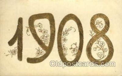 yea001007 - 1908 Year Date Postcard Post Card Old Vintage Antique