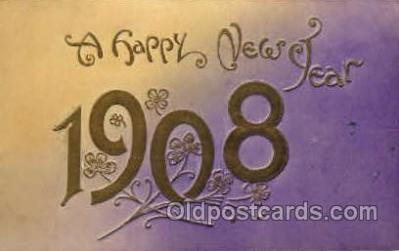 yea001008 - 1908 Year Date Postcard Post Card Old Vintage Antique