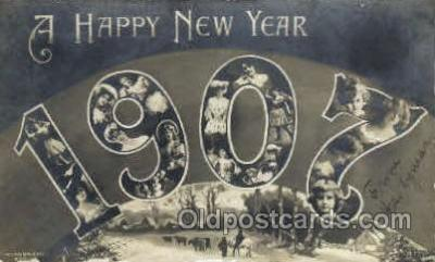 1907 Year Date Postcard Post Card
