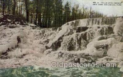 zoo001079 - Falls Lake Agassiz, New York Zoological Park New York, USA Postcard Post Cards Old Vintage Antique