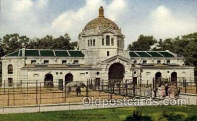 zoo001084 - Elephant House, New York Zoological Park New York, USA Postcard Post Cards Old Vintage Antique