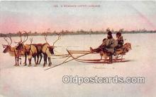 yan060011 - Lapland, North Cap, Norway Reindeer Outfit Postcard Post Card